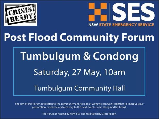 Community Forum 27 May